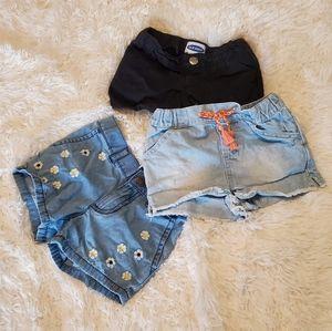 Girl's Bundle of 3T Shorts